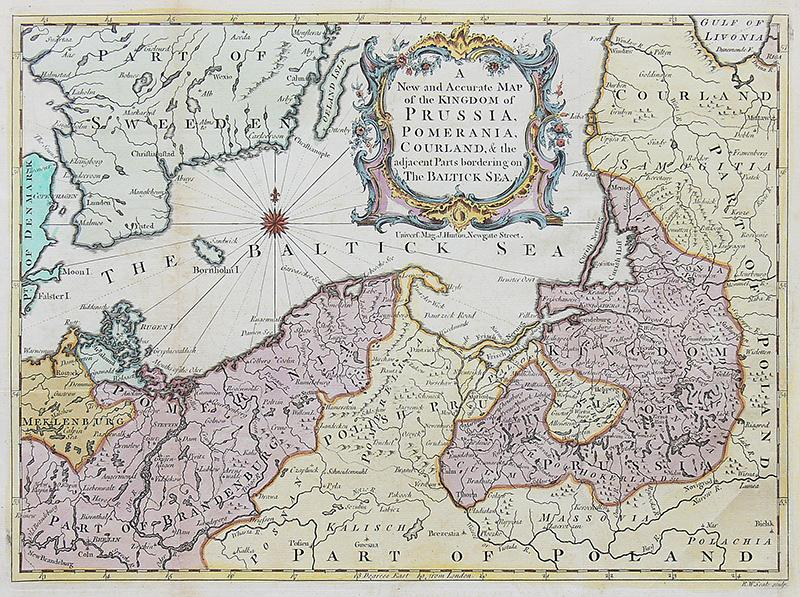 A new and accurate map of Kingdom of Prussia, Pomerania…