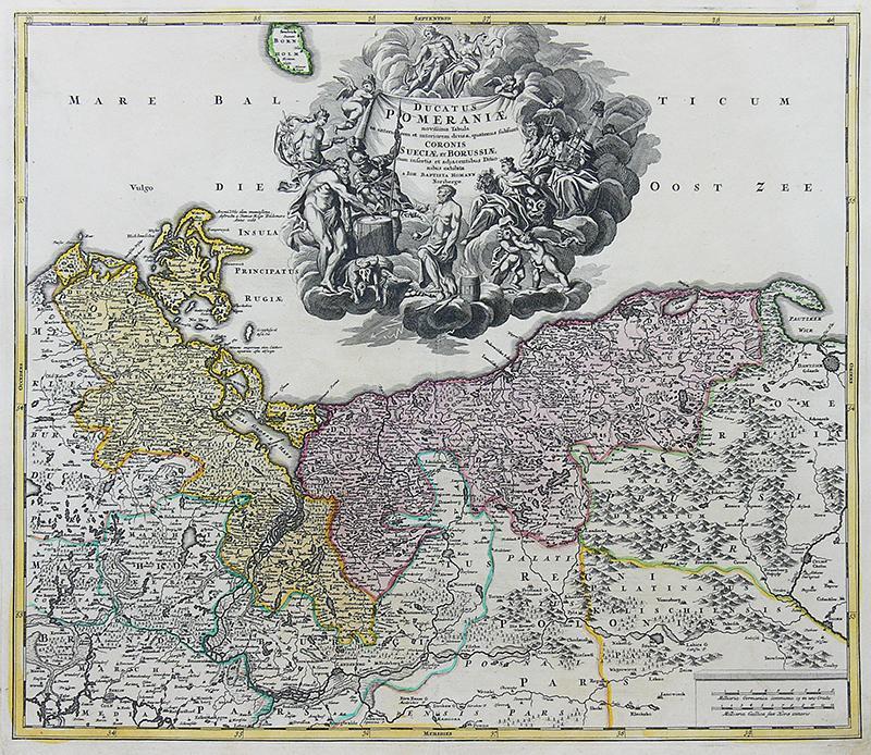 Ducatus Pomeraniae novissima tabula in anteriorem et interiorem divisa…