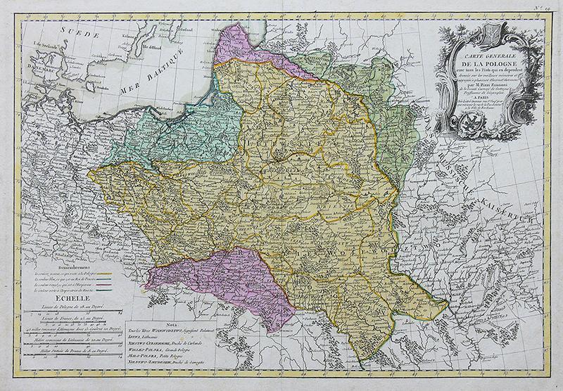 Carte generale de la Pologne avec tous les Etats…