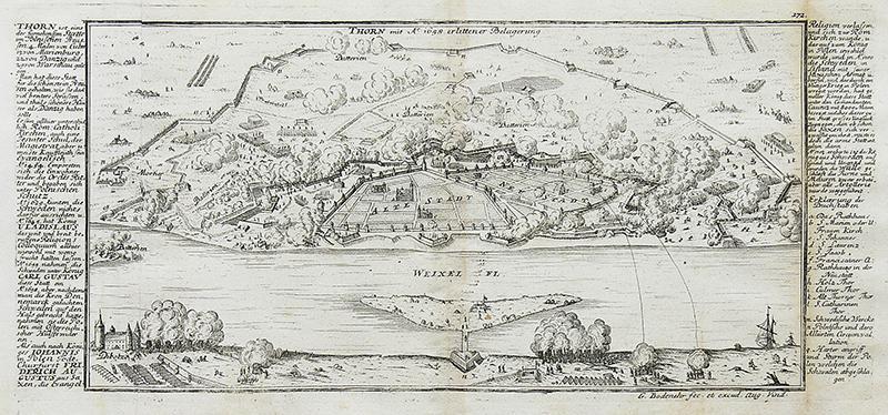 Thorn mit A° 1658 erlittener Belagerung