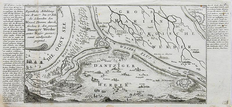 Eigentliche abbildung wie A 1657. den 27. Febr. die Schweden…