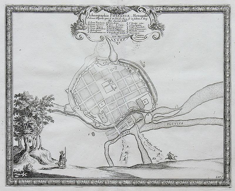 Ichnographia Posnaniae, Metropolis, Polonia Majoris…