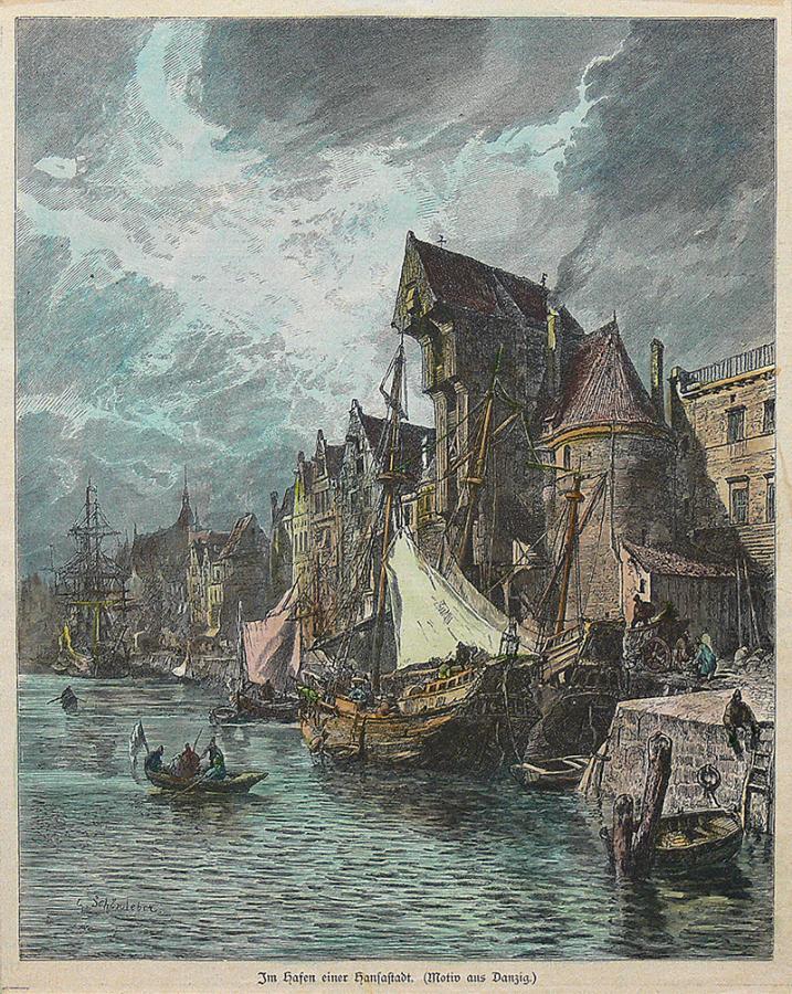 Im Hafen einer Hansastadt