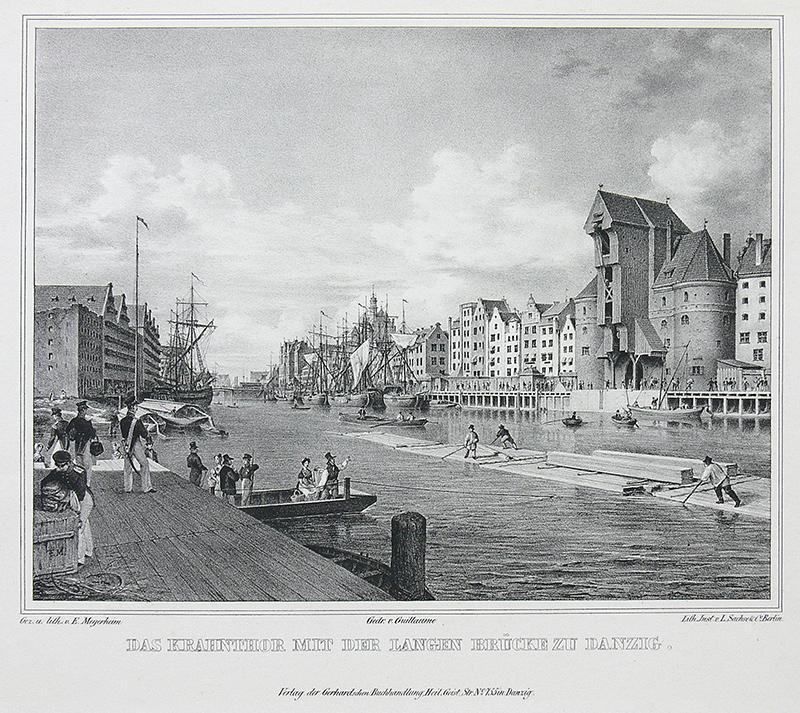 Das Krahnthor mit der Langen Brücke zu Danzig