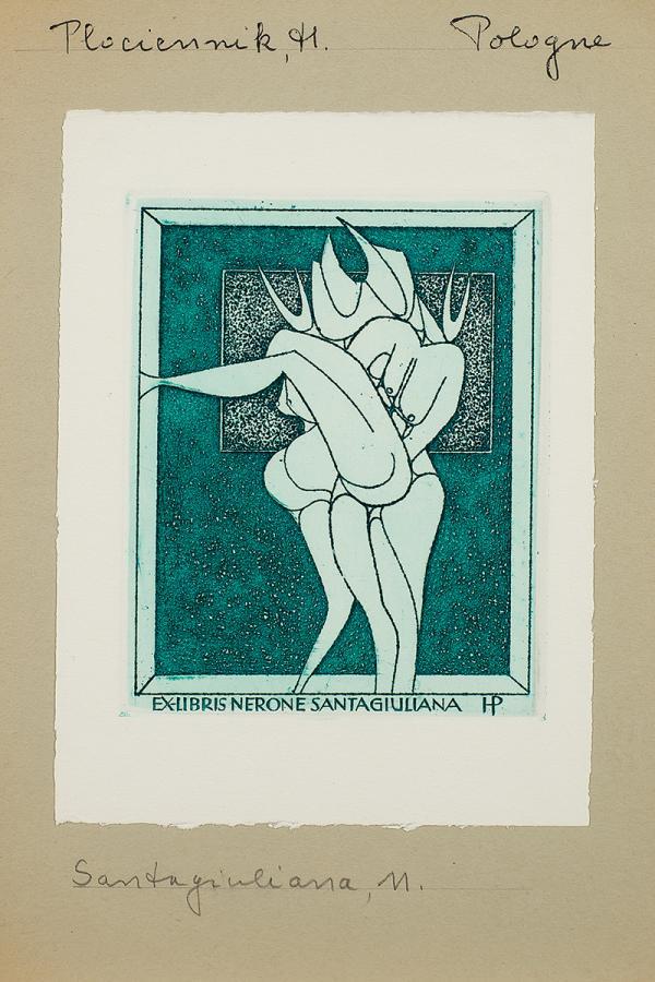 Ex libris Nerone Santagiuliana, 1969 r.