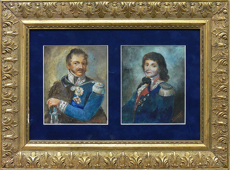 Para portretów: Ks. Józef Poniatowski i Tadeusz Kościuszko