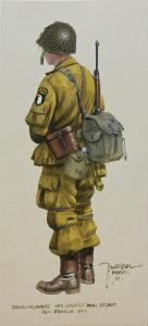Spadochroniarz 101. Dywizji Powietrznodesantowej z 1944 roku