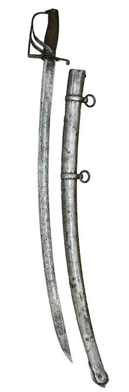 SZABLA KAWALERYJSKA, HUZARSKA, 4. ĆW. XVIII W.