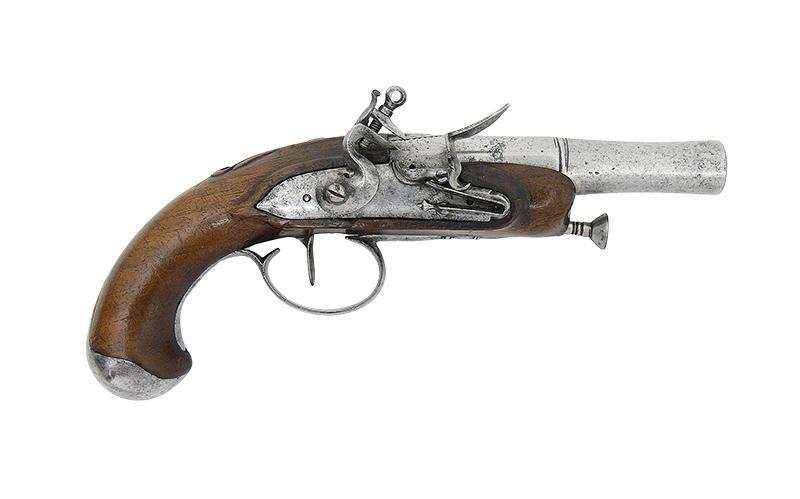PISTOLET SKAŁKOWY PODRÓŻNY, FRANCJA, OK. 1770 R.