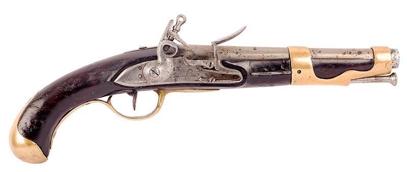 PISTOLET SKAŁKOWY FRANCUSKI AN 1763–1766, 1779