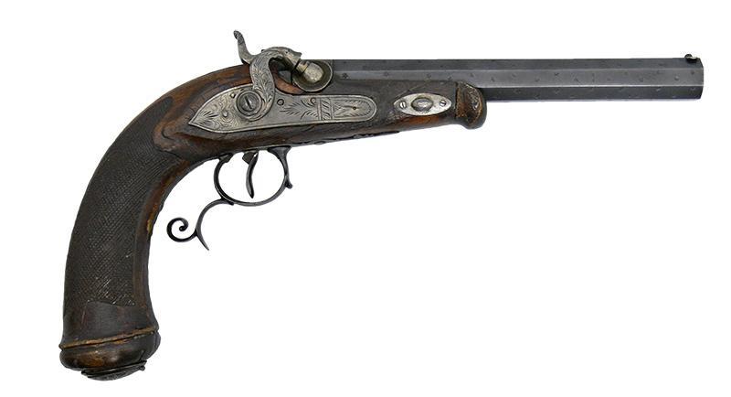 PISTOLET KAPISZONOWY, FRANCJA, OK. 1850 R.