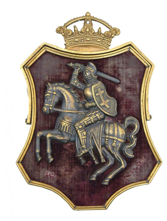 KARTUSZ Z HERBEM LITWY, XIX W.