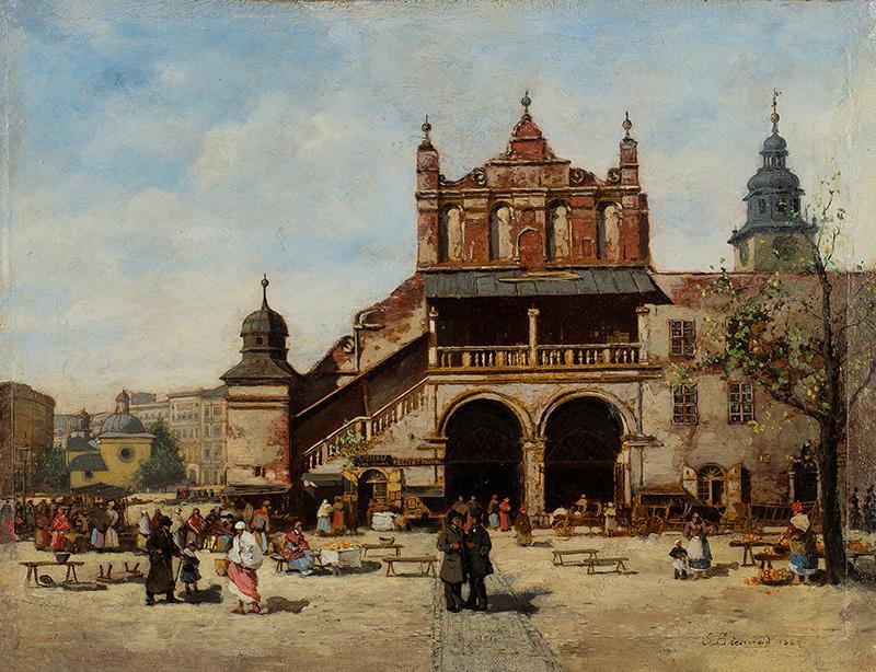 Sukiennice Krakowskie przed restaracyą, 1885 r.