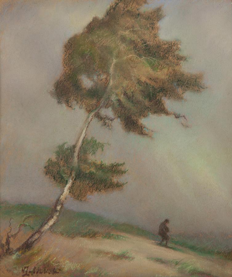Pejzaż z drzewem