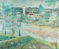 Pejzaż znad Pilicy, 1955 r.