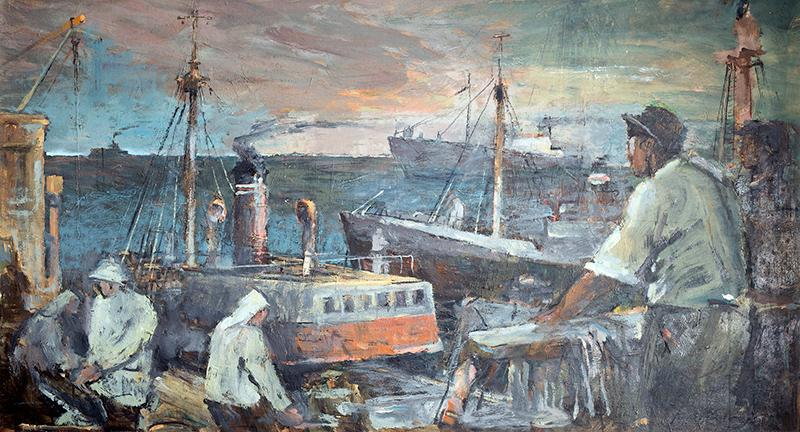 Rybacy na Morzu Północnym, ok. 1960 r.