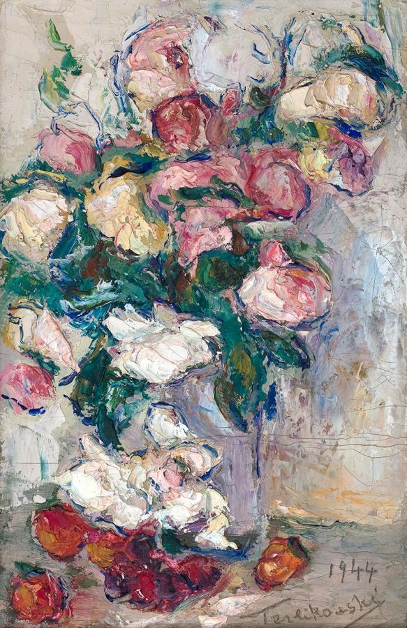 Kwiaty w wazonie, 1944 r.