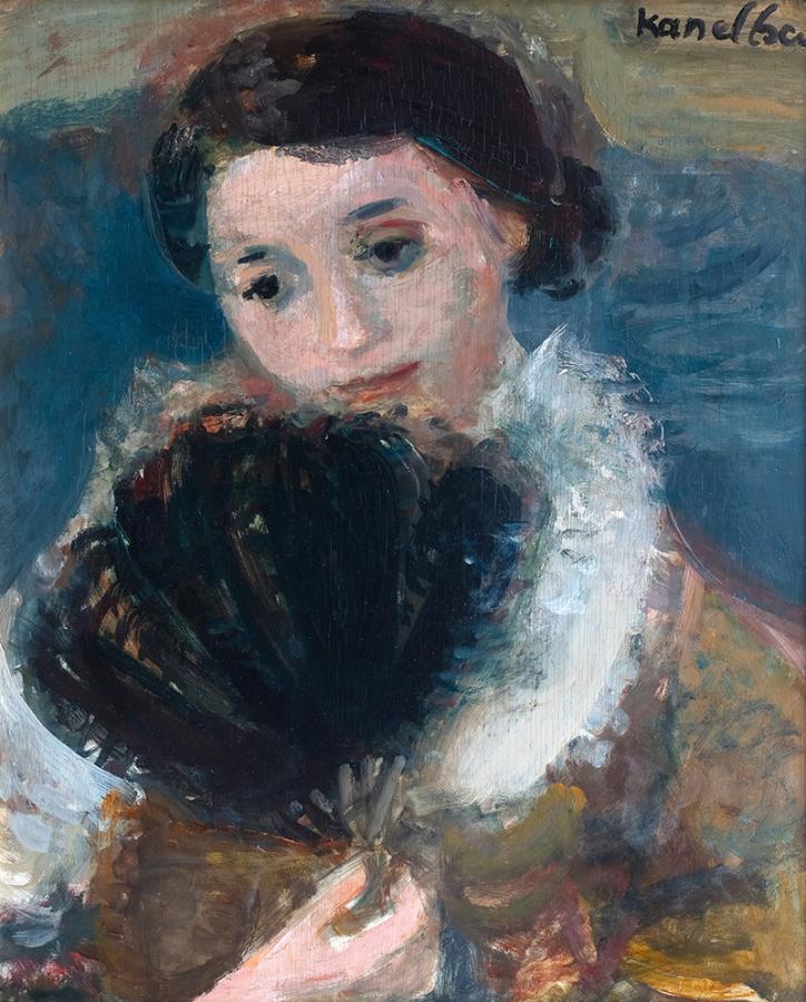 Portret kobiety z wachlarzem , 1930 r.