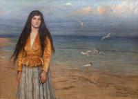 Dziewczyna na tle morza, 1917 r.