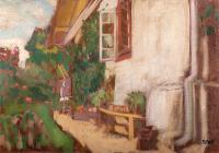 Przed domem w Kalwarii