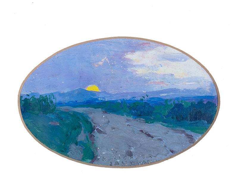 Droga z zachodem słońca