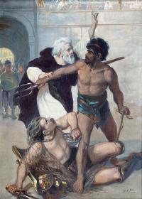 Almachiusz z gladiatorami, 1920 r.