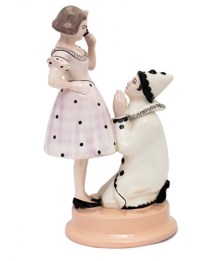 Figurka Pierrot i Kolombina,  Pacyków, lata 1912 - 1939