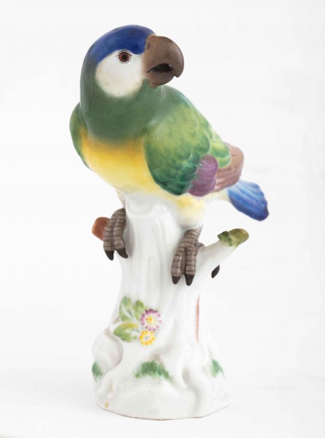 Figurka papugi (amazonka?), Miśnia, po 1934 r .