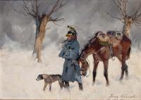Zimowy odwrót spod Moskwy (Kirasjer w trakcie odwrotu spod Moskwy)