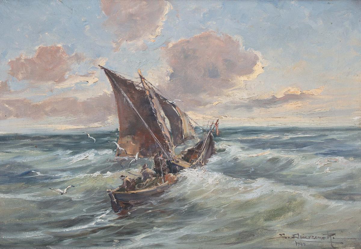 Na morzu, 1948 r.