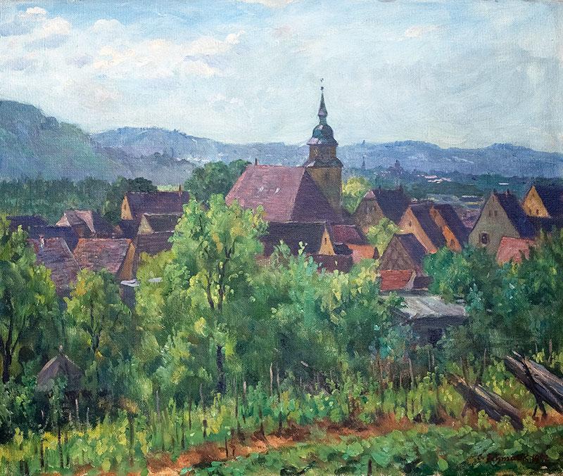 Pejzaż miasteczka, 1942 r.