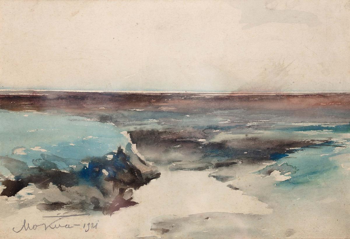 Pejzaż morski, 1921 r.