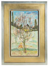 Drzewo w moim ogrodzie w Villiers-le-Bel, 1959 r.