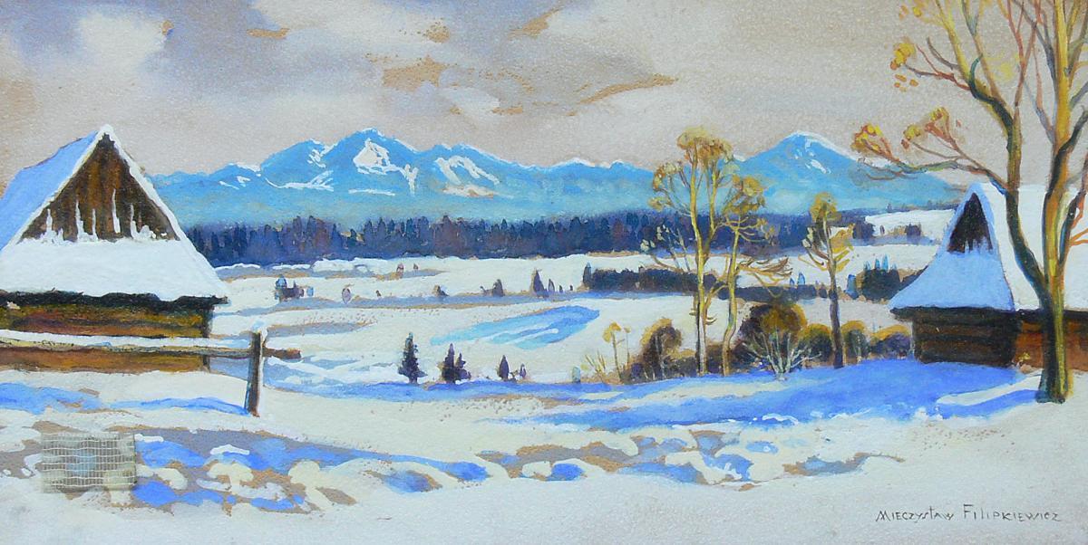 Zimowy pejzaż podgórski