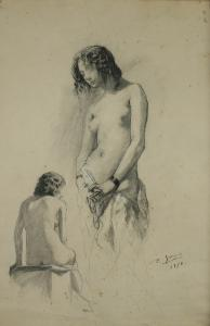 Studium kobiety, 1870