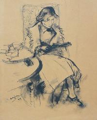 Siedząca kobieta (pani Hayden), 1949