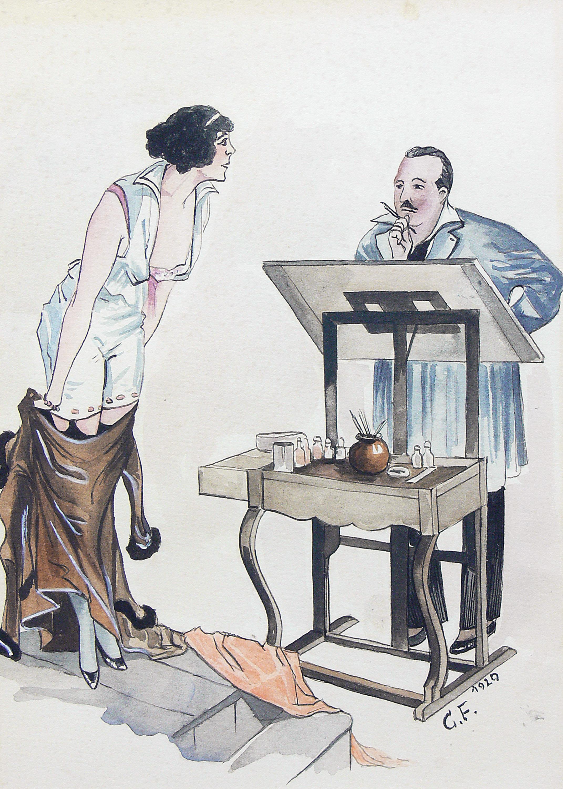 artysta-nieokreslony-w-atelier-1920-r