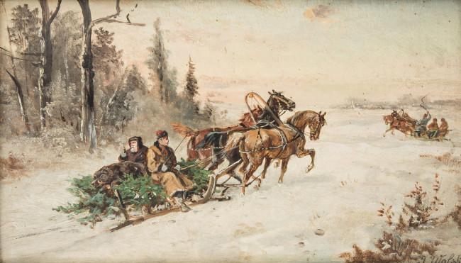 powrot-z-polowania-ok-1900-r-jan-wolski