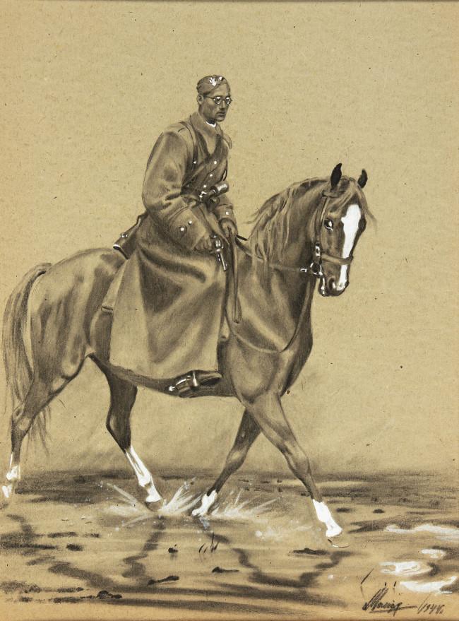 autoportet-w-mundurze-na-koniu-1944-r-ludwik-maciag