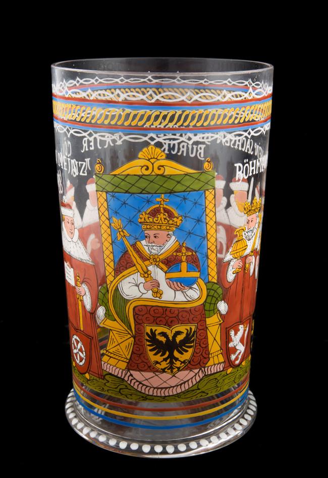 szklanica-z-przedstawieniem-cesarza-i-elektorow-fritz-heckert-piechowice-k-xix-w