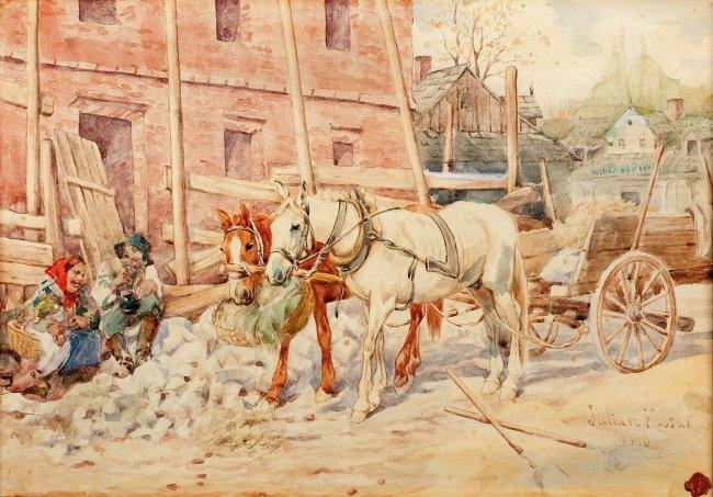 Juliusz Kossak | Południowy odpoczynek, 1886 r.