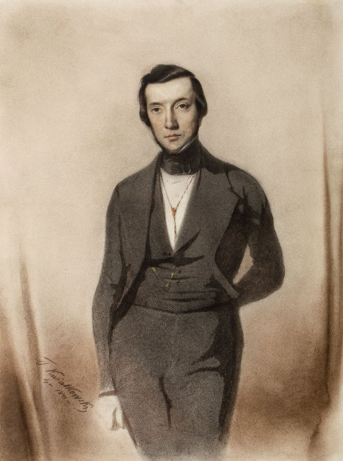 Teofil Kwiatkowski | Portret mężczyzny, 1841 r.