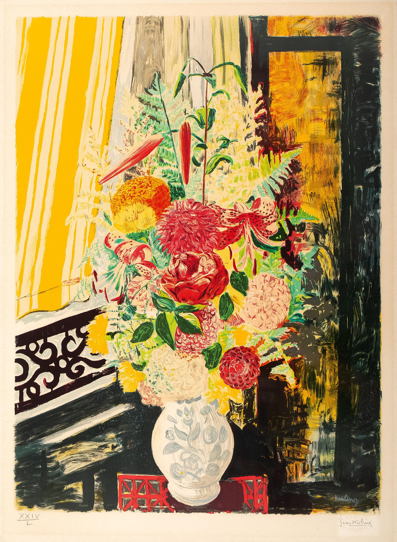 Mojżesz Kisling   Kwiaty w białym wazonie