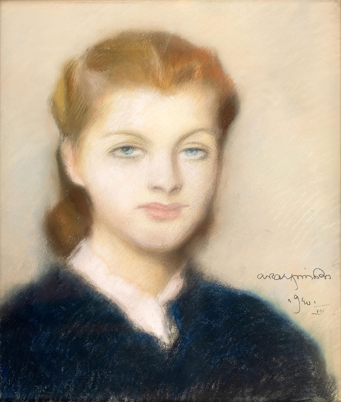Alfons Karpiński   Portret kobiety, 1940 r.