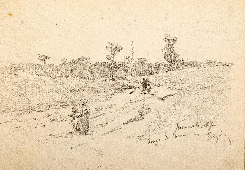 Tadeusz Rybkowski | Droga do lasu, 1887 r.
