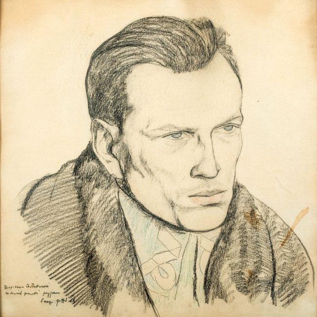 Leopold Gottlieb | Portret Józefa Andrzeja Teslara