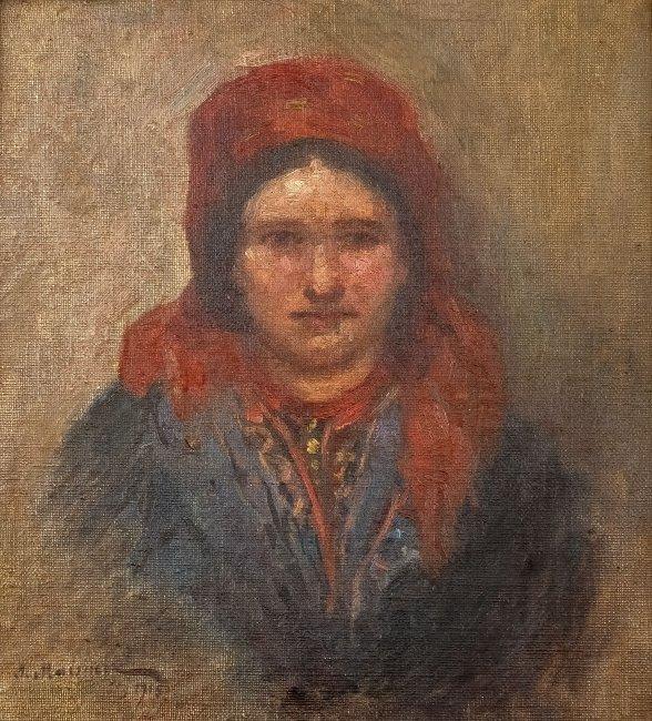 Salomon Maisner (Mejzner) | Portret góralki, 1915 r.