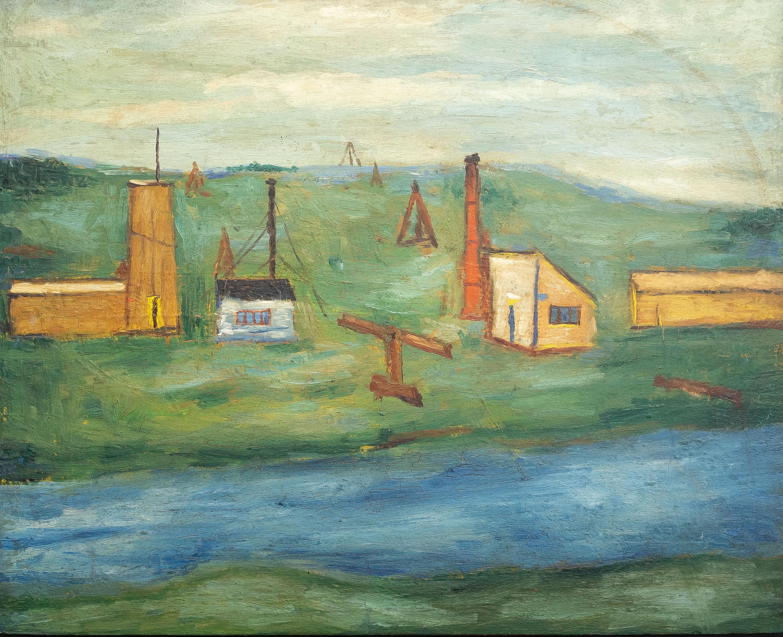 Jerzy Nowosielski | Pejzaż z rzeką, 1952