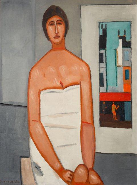 Jerzy Nowosielski | Kobieta we wnętrzu, 1964