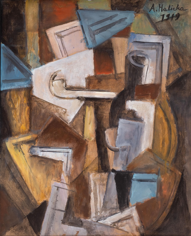 Alicja Halicka | Kompozycja kubistyczna z fajką